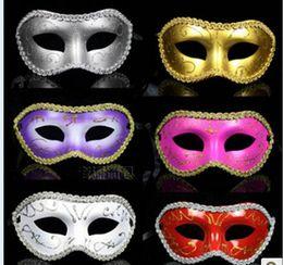 Women Men Mask Mardi Gras Party Masquerade Halloween COSPLAY Dress Ball Performance Unisex Colored Drawing Masks Christmas Wedding