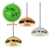 hot sale AC110V 220- 230V Tom Dixon void light copper pendant...