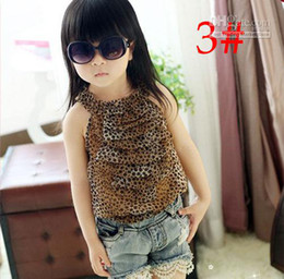 Wholesale Baby girls T shirts kids children hang neck veil vest girls tank tops tee Chiffon shirt