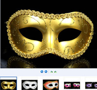Wholesale Sexy Women Men Mask Mardi Gras Party Masquerade Halloween COSPLAY Dress Ball Performance Unisex Colored Drawing Masks Christmas Wedding veil
