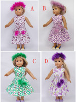 Wholesale New Arrival American Girl Outfit Clothes Dress for inch American Girl Dolls support customize