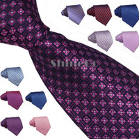 Wholesale 10pcs New Arrivals Men Men s Polyester Silk casual stripe pattern jacquard weave Party Wedding Necktie Neck Ties Tie