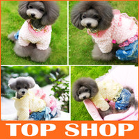 Wholesale Dog Apparel Dog Clothes Dog Fleece Coat Lace Cotton Sizes Colors Autumn Winter Pet Puppy Clothes109