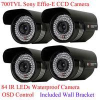 Wholesale 4pcs High Resolution IR TVL quot Sony EFFIO E CCD Waterproof Outdoor Surveillance Security CCTV Camera OSD Menu