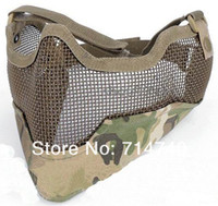 Wholesale metal mesh half face airsoft mask CP