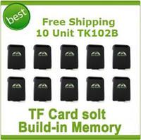 Two Way TK102B  10 units Quad band GPS Tracker TK102B TF Card Solt Car person Track device