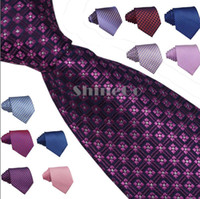 Wholesale New Casual Men Men s Made of Polyester Silk casual stripe pattern jacquard weave Party Wedding Necktie Neck Ties Tie