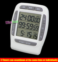 Wholesale Digital LCD Multi Channel Timer CountDown Laboratory Channel Timers Hours