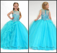 Reference Images Girl Beads Hot 2014 New Arrival Beaded Stones little Kids Ball Gown Embelishment Girl Pageant Dress Flower Girl Dresses Party006