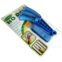 blinds - S5Q washable cleaning brush Microfibre Triple Blinds Venetian Slats Blind Dust Cleaner Duster AAAANF