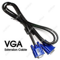 Wholesale S5Q FT m Male To Male Video Extension Cable M M Pin Fit SVGA VGA Monitor AAAAPU
