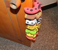 Wholesale New Baby Safety Finger Pinch Guard Door Stopper Baby safety products gate card Animal model