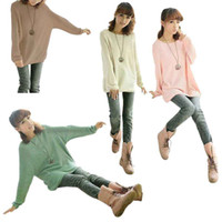 Women christmas jumpers - S5Q Ladies Batwing Round Neck Knitted Pullover Jumper Casual Loose Long Sweater New AAACPO