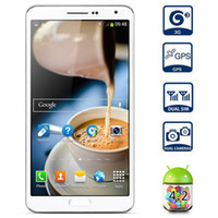 5.7 Android 1G Free shipping NO.1 N3 Smartphone 5.7 inch HD Screen Android 4.2 MTK6589T Quad Core 1.5GHz 3G 1GB 8GB n9000 note3-White