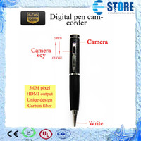 Wholesale 5 M pixel P digital pen camcorder mini dvr HD camera hidden camera HDMI output motion detection WU