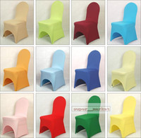 Wholesale HOT White Polyester Spandex Chair Cover Arch front for Banquet Weddings parties Fedex