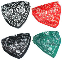 Wholesale S5Q Adjustable Pet Dog Puppy Cat Neck Scarf Bandana With Collar Neckerchief New AAABAV