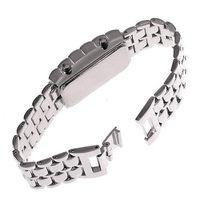 Black led lava watch - S5Q Blue LED Metal Lava Digital Watch Bracelet Binary Wristwatch For Mens Ladies AAAAQZ