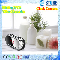 Wholesale promotion Digital Alarm mini Clock Camera full HD P Hidden DVR Video Recorder with Motion Detection hours recording WU