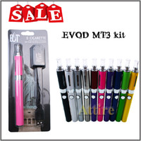 Wholesale MT3 Atomizer Evod Kit Electronic Cigarette Blister Starter Vaporizer Evod Battery E Cigarettes Vape fit Vivi nova CE4 Clearomizer e Liquid