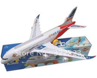 Wholesale Best selling Aircraft music lighting airplain airbus A380 toys for children best gift for baby