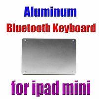 Wholesale Slim Aluminum Wireless Bluetooth Keyboard Stand Case Dock For iPad mini seven eleven