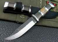 Wholesale New Sharp Jungle Wood Handle Survival Fixed Bowie Hunting Knife H23