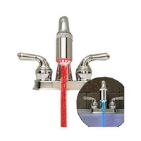 Wholesale S5Q Water Glow LED Faucet Light Temperature Sensor Detector Adapter Home Decor AAAAGG