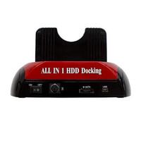achat en gros de cartes xd-S5Q 2,5 & amp; quot; 3,5 & amp; quot; SATA IDE HDD Dual Docking station + Hub USB SD XD MS lecteur de carte AAAAGM