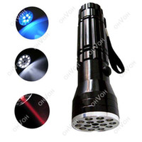 Cheap S5Q 3 in 1 UV LASER Ultraviolet Flashlight Light Lamp Torch 15 LED for Camping AAAAQE