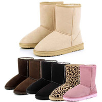 Wholesale S5Q New Hot Fashion Women Winter Warm Mid calf Snow Cold Weather Boots Shoes AAACPU