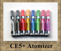Electronic Cigarette Atomizer  CE5+ Atomizer eGo Clearomizer 1.6ml no wick CE5 vapor tank Electronic Cigarette removable for e-cig battery 8 colors CE4+ CE5 DHL ship