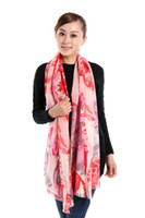 Wholesale charming sexy flower bohemian print carnival party women wool shawl pashmina scarf