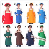 Wholesale Polyester work apron cm can be printed LOGO restaurant waiter aprons supermarket Chrismas Gifts Fedex