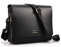 Wholesale New Men s Kangaroo Kingdom Black amp Brown Leather Shoulder Messenger Bag Briefcase Large Color MB11