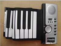 Wholesale 61 key Flexible MIDI Music Keyboard Hand Roll UP Piano Digital Soft Hand rolled Folding Silicone Piano With MIDI Portable Keyboard