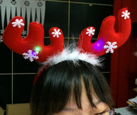 Wholesale Christmas decorations Christmas gifts Christmas antlers headband head buckle Christmas antlers headband tiara with light electronic