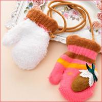 Cadeaux de Noël! 2pairs Enfant garçons filles gants Toddlers hiver panda doigt Gants Kids tricoté chaud gants de bébé Gants, Livraison gratuite