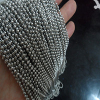 Chains ball chains bulk - Free shi meters stainless steel ball chain Jewelry finding mm mm mm mm mm in bulk