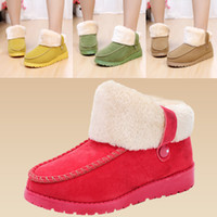 Wholesale 2013 New style Warm thicken villose snow boots Flat Ankle Boot fashion red color women s boots Lady flat boots top quality factory price