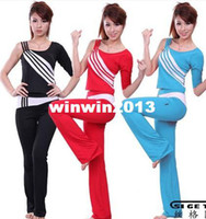 Spandex aerobics men - Fitness clothes spring and summer aerobics clothing yoga clothes female dance set y1351