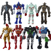 Wholesale 8x Real Steel Zeus TWIN CITIES Atom Midas Noisey Boy cm PVC Action Figure Set