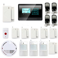 Wholesale P31 Wireless GSM SMS TEXT Touch Keypad Home House Alarm System Emergency Panic MHz