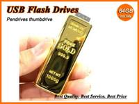 USB 2.0 gold bars - 50PCS DHL GB GB GB GB Gold Bar USB Flash Drive U disk memory stick Pendrive thumbdrives pen drive pendrives