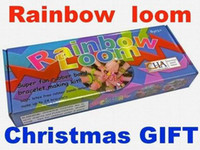 Wholesale Rainbow Loom Kit Loom Bands Tie Dye Rubber Bands Twistz Bands Rainbow Loom Christmas gife MOQ set