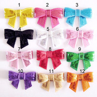 Wholesale Bow Kids Hairpin quot Hair Clips Sequin Bows With Clip Girls Hair Accessories Boutique Bows Hair Barrettes