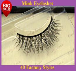 Wholesale RMZ02 Real Mink Strip Lashes thick False Eyelashes natural Handmade siberian mink fur eyelashes