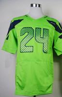 Wholesale Cheap American Football Men s Marshawn Lynch Blue Green Grey White Elite Jerseys Football Jerseys Mix Order