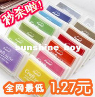 Wholesale concave waist vermilion ink pad stamp pad ink color large sign finger painting color