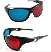plastic lens - Hot Sale Red amp Blue D Glasses Viewer High Quality Plastic Frame Resin Lens Dimensional Anaglyphic Digital Video Glasses